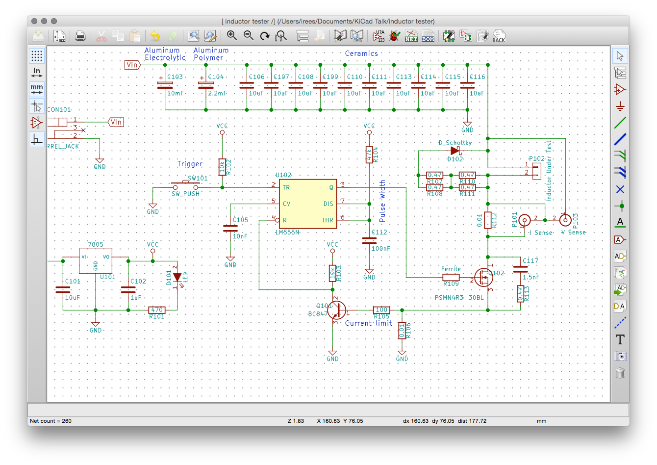 Pcb Design With Kicad Middle Of Run Schematic Wiring Diagram Its All About Drawing The Aka Circuit Which Produces Netlist And Bom Is Required For Layout Or Can Be Used